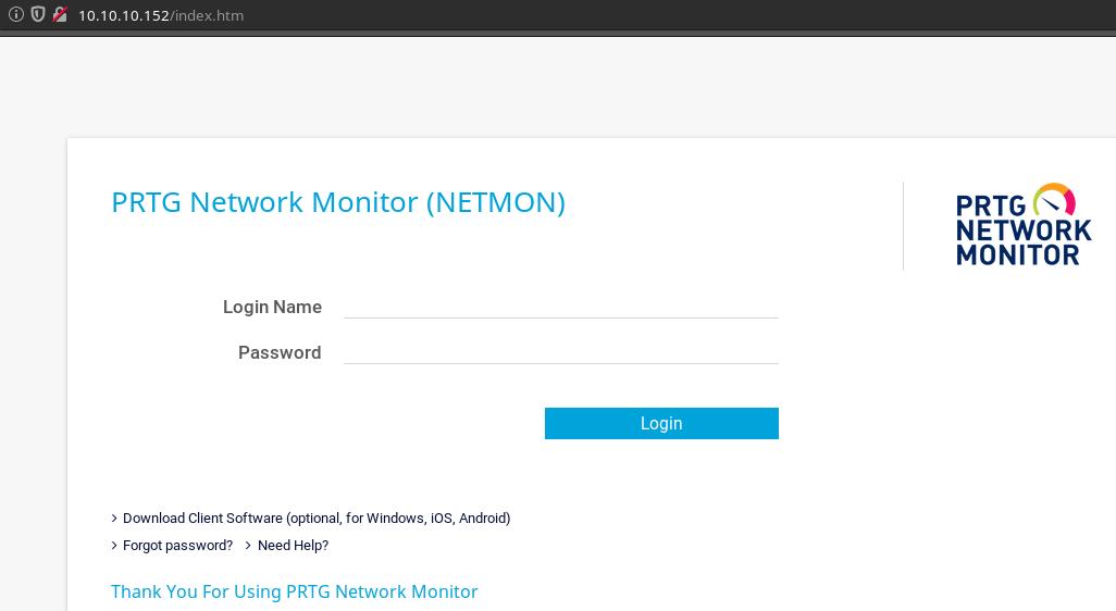 Hack The Box - NetMon WriteUp